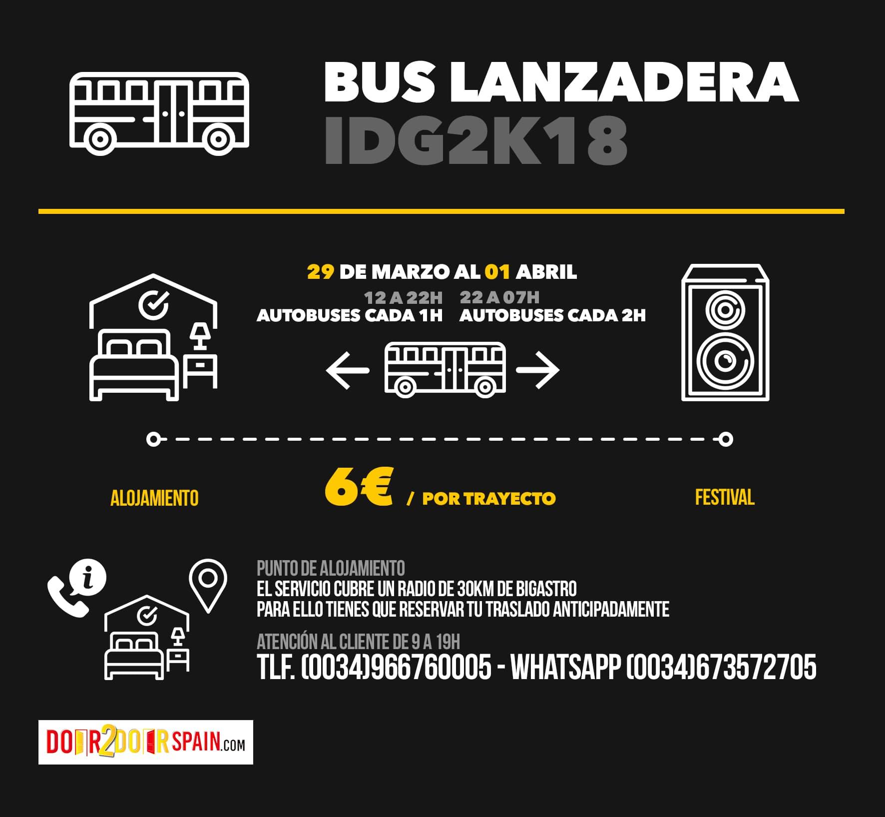 Bus lanzadera IDG